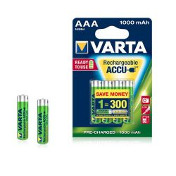 Rechargeable batteries AAA Varta 1000mah