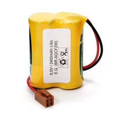 Lithium batteries 6V CR17450 with connector