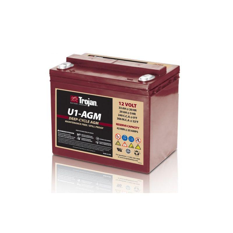 Battery Trojan U1 Agm Trojan Battery 12v Lead Acid Batteries