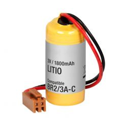 Battery Lithium 3V 1800mAh connector