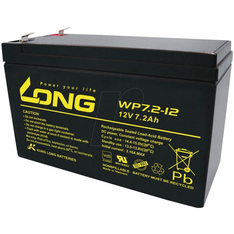 Battery Long Wp7 2 12 12v 7 2 Ah Long 12v Lead Acid Batteries