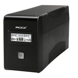 UPS Phasak 1000VA LCD USB with protection for RJ45