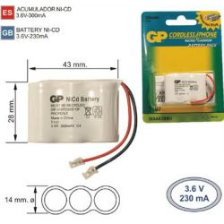 Battery Phone inalámbrico T107 3.6 V 300mAh