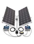 solar energy kits for installations isolated, boats, caravans