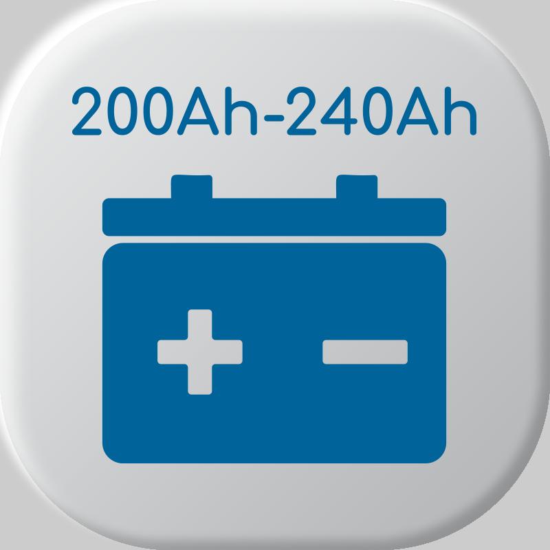 De 200Ah a 240Ah